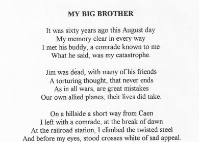 Brother Death Poems From Sister 3