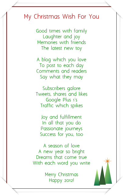 Christmas Poems For Family 2