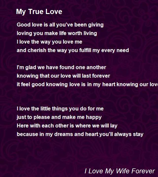 True Love Poems For Him 7