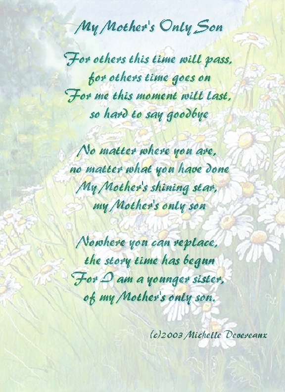 Mom And Son Poems 5