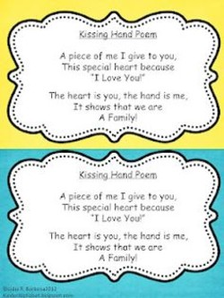 The Kissing Hand Poems 1