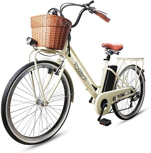 NAKTO 26 Electric Bike 6 Speed Electric Bikes for Adults 250W High Speed Ebike City Electric Bicycle with 36V 10AH 12AH Removable Lithium Battery