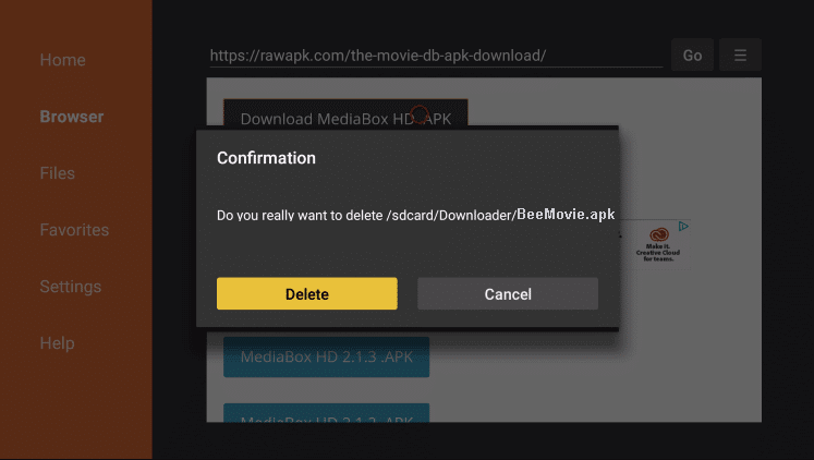 Install BeeMovie APK on Firestick