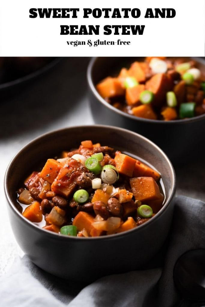 two grey bowls of vegan and gluten-free stew