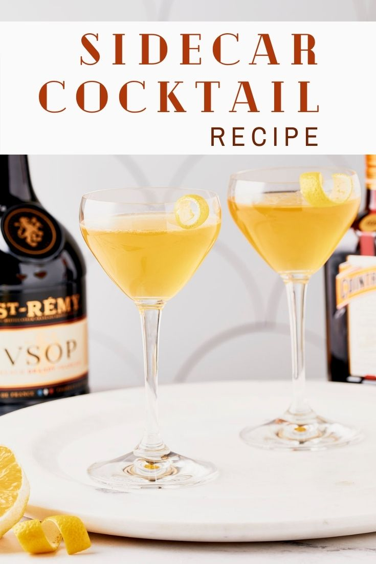 Sidecar Cocktail Recipe pin