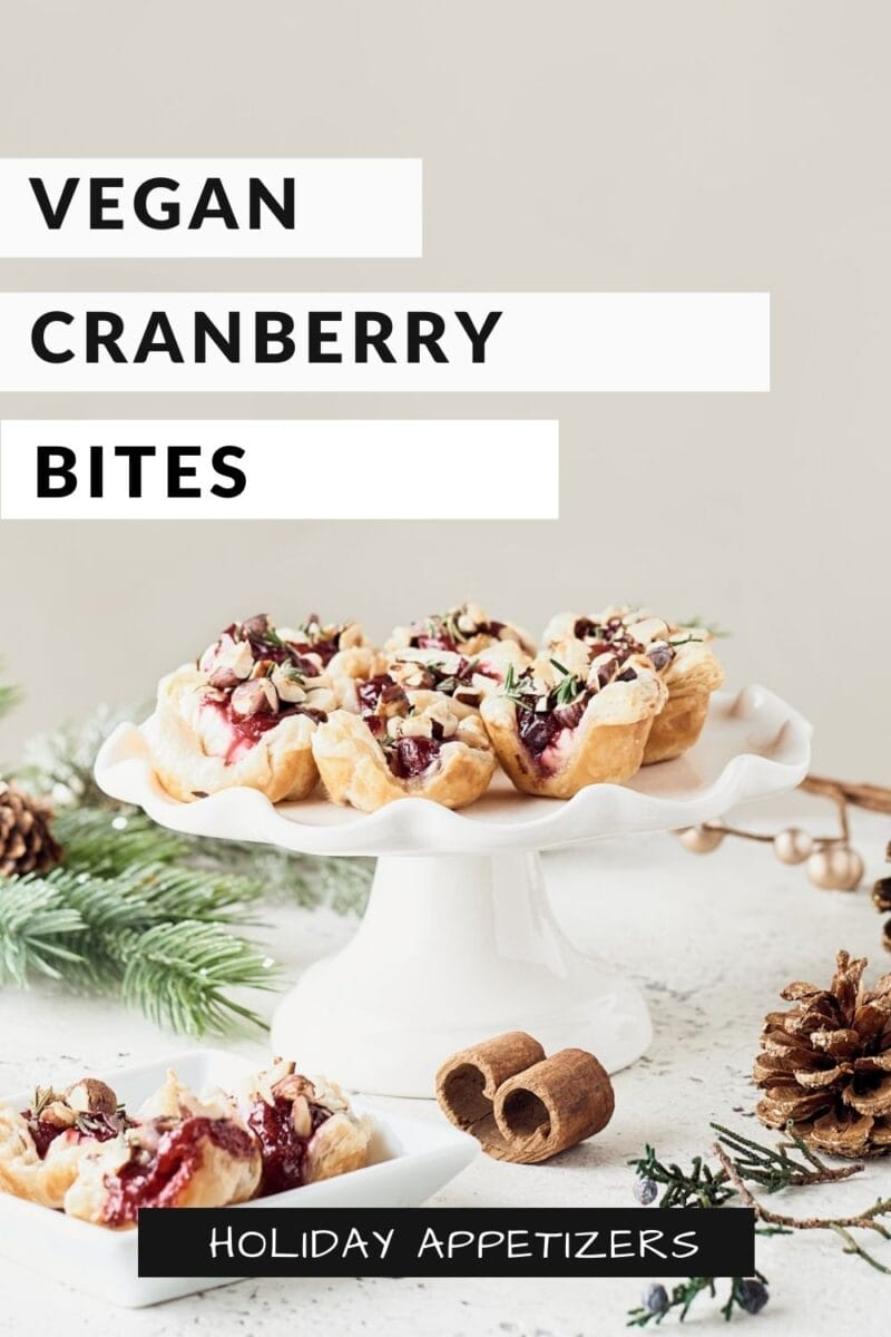Vegan Cranberry Cream Cheese Bites