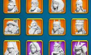 Commander Sculptures and Skill Upgrade Costs