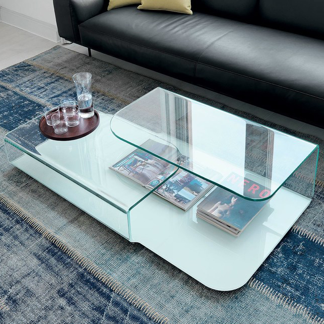 Hebron Hug Luxury Glass Coffee Table Robson Furniture