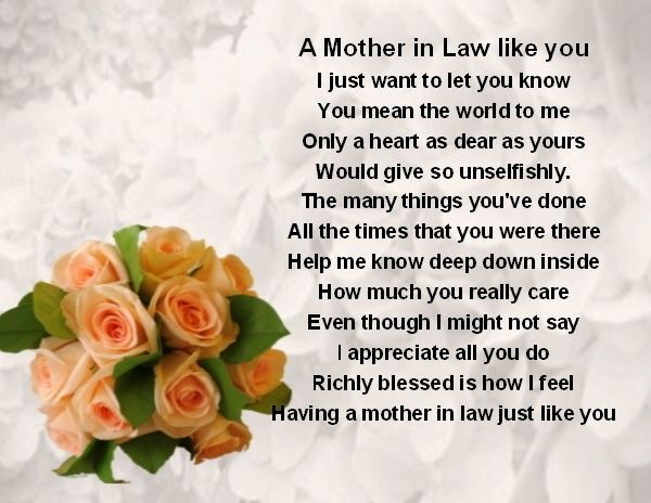 Poems For Mother In Laws 2