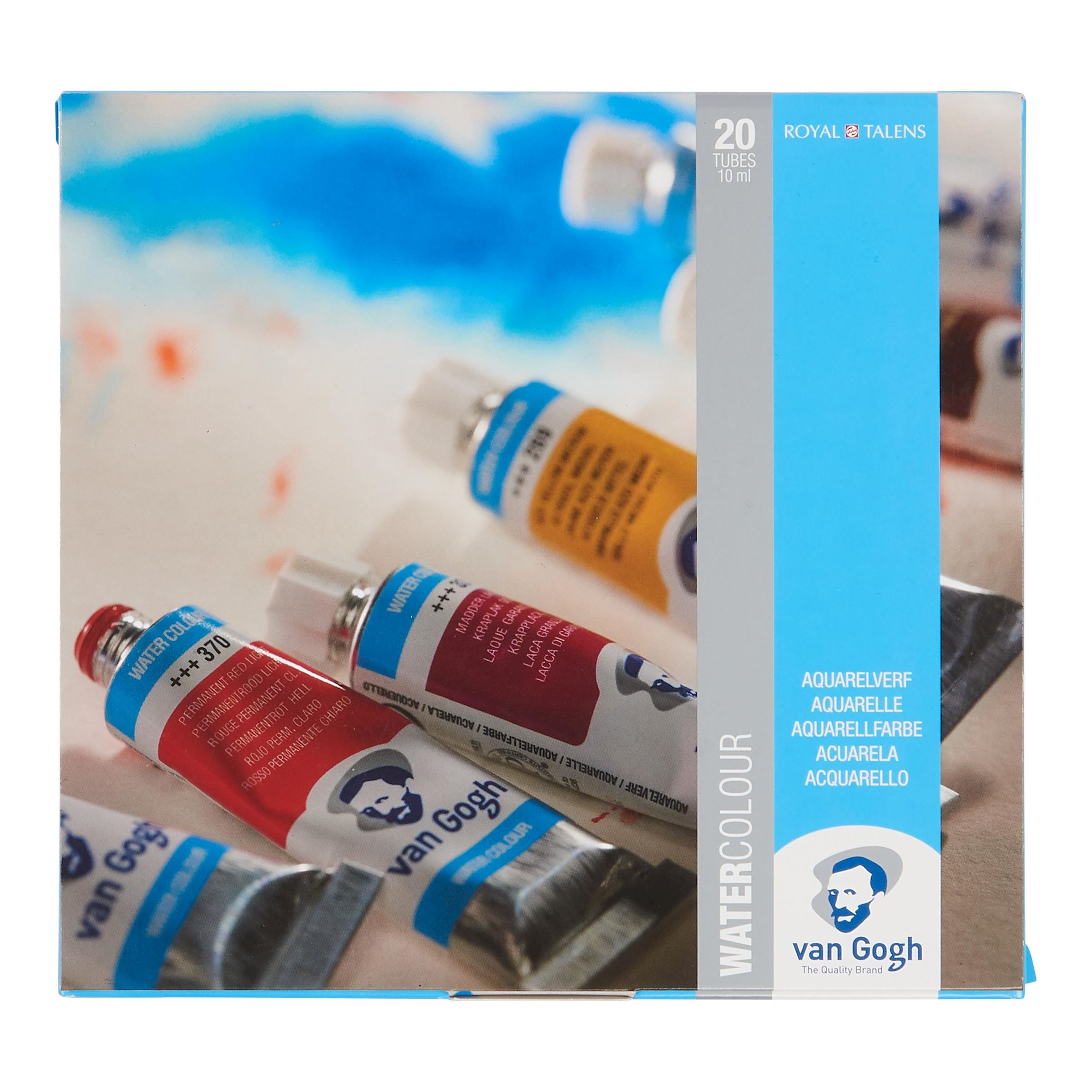 Aquarell Set Mit 20 Farben In 10 Ml Tuben Royal Talens