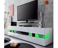 Zimtown Tv Stands with High Gloss Led Lights