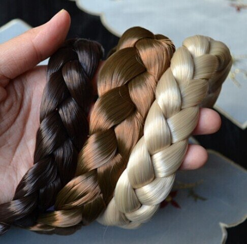 Fashion bohemian wigs braid thick wide headband popular fashion hair accessories