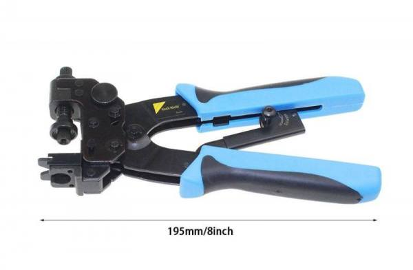 Ht-510b professional compression crimping tool for f, bnc, rca, connectors on rg59, rg6 coaxial cable