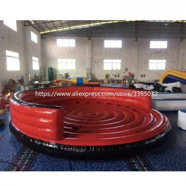Summer promotion various inflatable water toys for sale, 4m diameter inflatable water crazy ufo with air pump