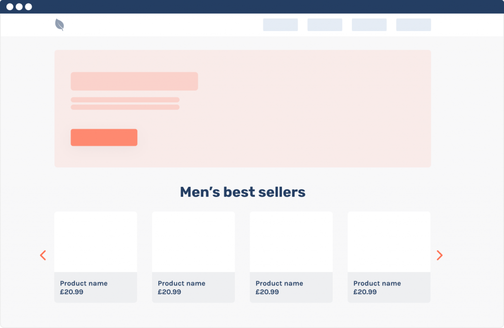 best seller wireframe