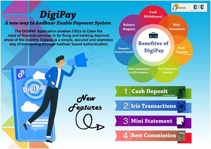 Register for DigiPay with new features