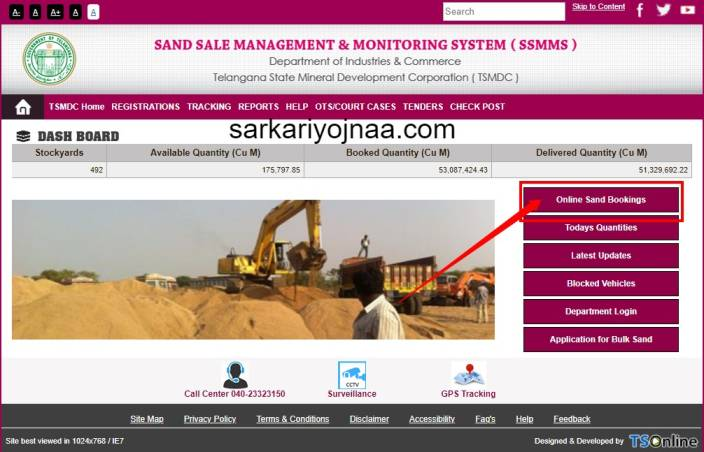 TS Sand Booking Online