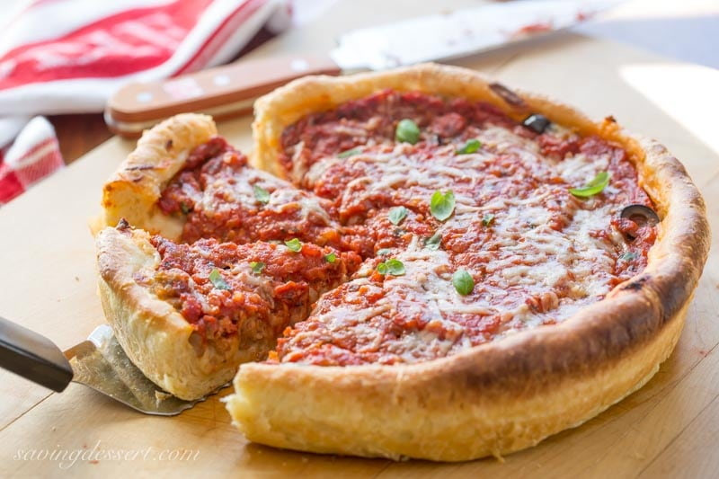 Chicago Style Deep Dish Pizza Recipe Saving Room For Dessert