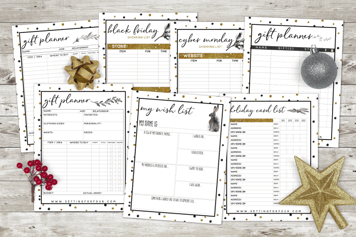 Stay sane this Christmas with this fantastic Printable Planner – 27 pages to Organize and Plan Christmas!