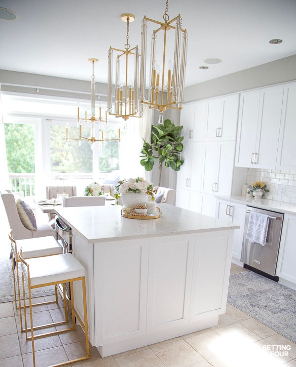 Fall Kitchen Decor Ideas Kitchen Island Countertops And More Setting For Four