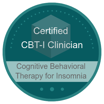 Image showing cognitive behavioral therapy (CBT) for insomnia certification.