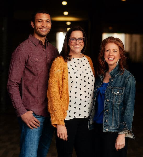 Image of Sleepably sleep consultants Seth Davis, Rebecca Schlegel, and Sara Nudd