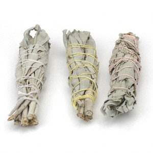 White Sage Baby Smudge Sticks, Wildcrafted - 3 Pack | 711121 15