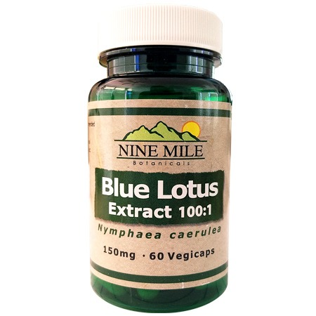 Blue Lotus Extract 100:1 Capsules (Nine Mile Botanicals)