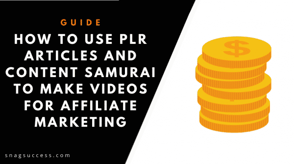 How to Use PLR Articles and Vidnami to Make Videos for Affiliate Marketing
