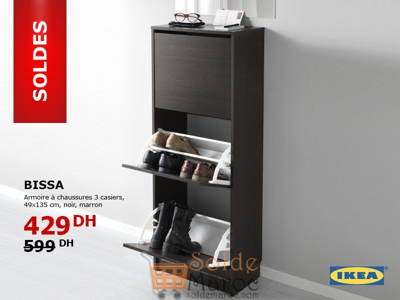 Promo Ikea Maroc Armoire A Chaussures Bissa 3 Casiers 429dhs