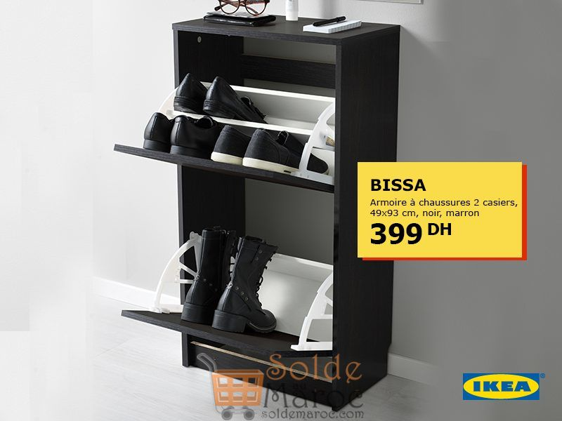Offre Speciale Ikea Maroc Armoire A Chaussures Bissa 2 Casiers