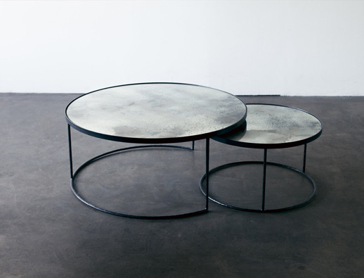 Notre Monde Charcoal Nesting Coffee Table Set Heavy Aged Ro Soul