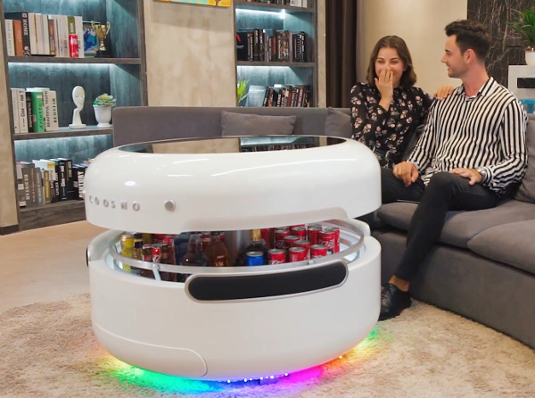 Space Age Coffee Table Has Built In Fridge Speakers Sound Vision