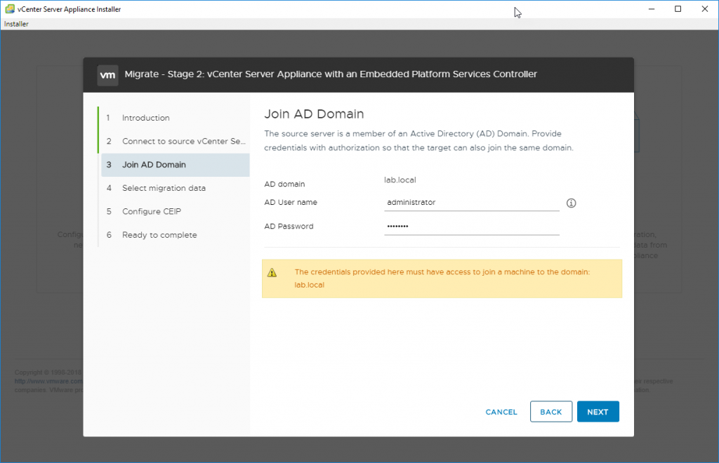 You are asked to join Microsoft Active Directory
