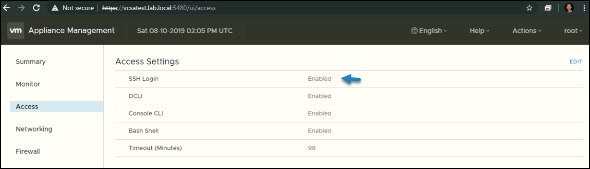Manual Patching of VCSA via Command Line Interface (CLI)