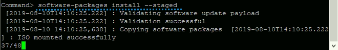 Install staged packages