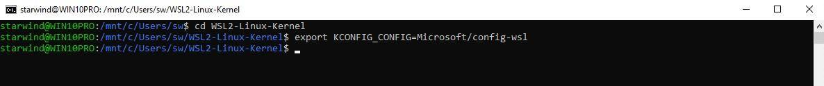 Export the current WSL configuration