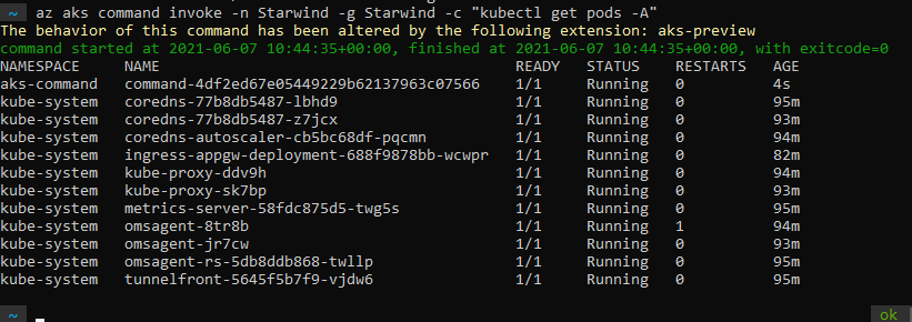 Execute your Kubernetes commands