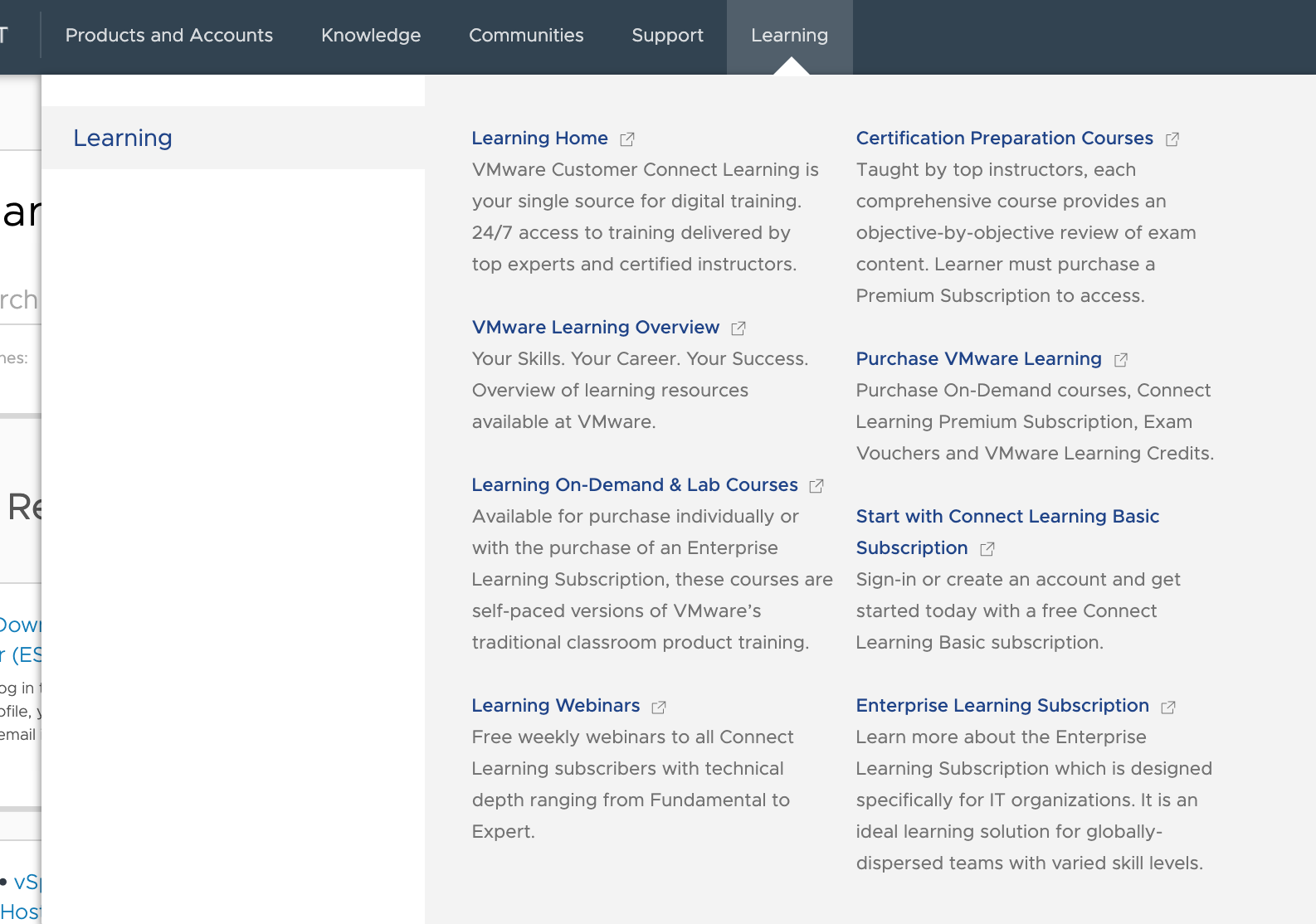 VMware Learning Zone resources