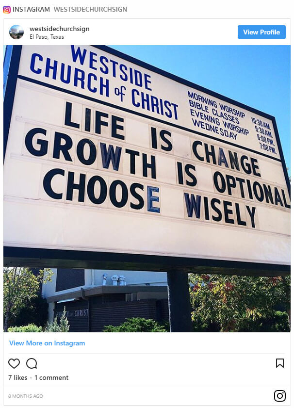 101 Funniest Church Sign Sayings