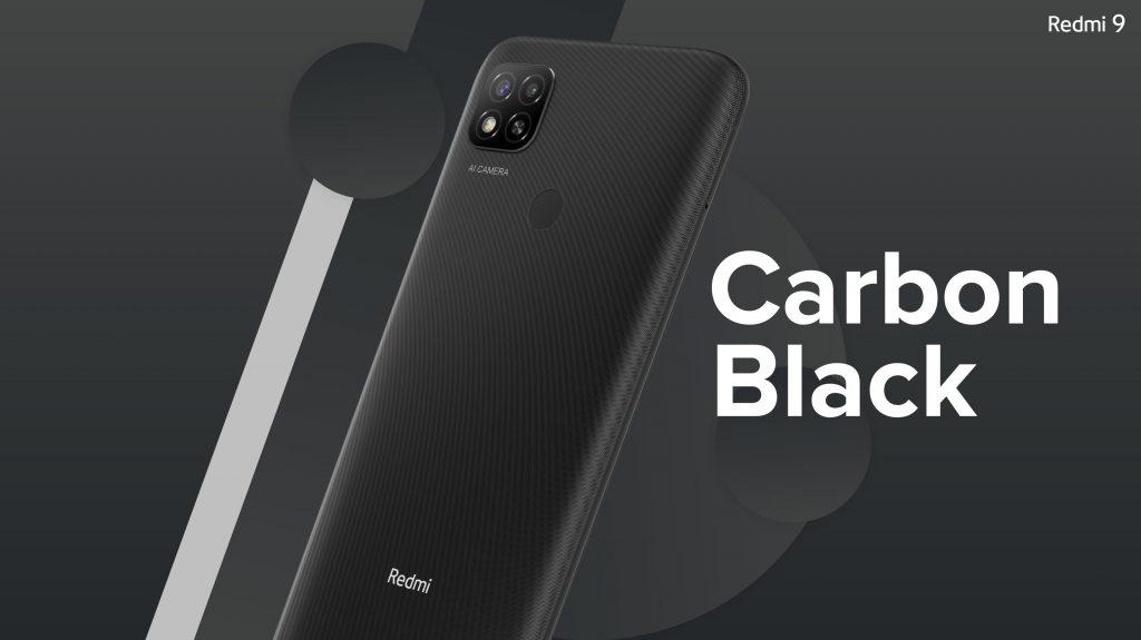 Redmi 9 comes in 3 colors: Sporty Orange, Carbon Black and Sky Blue.