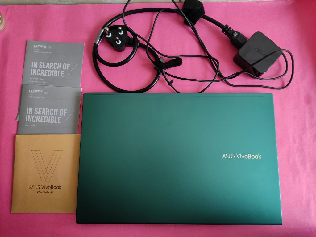 In the box content of Asus Vivobook S14 M433