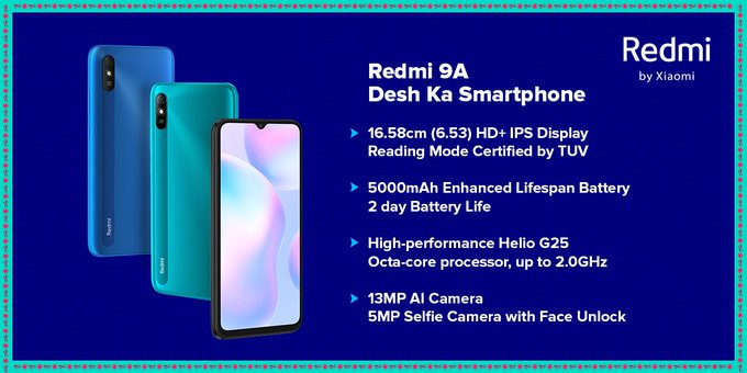 Redmi 9A Launched at Just Rs 6,799.