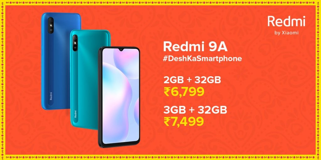 Redmi 9A starts at Rs 6,799 in India
