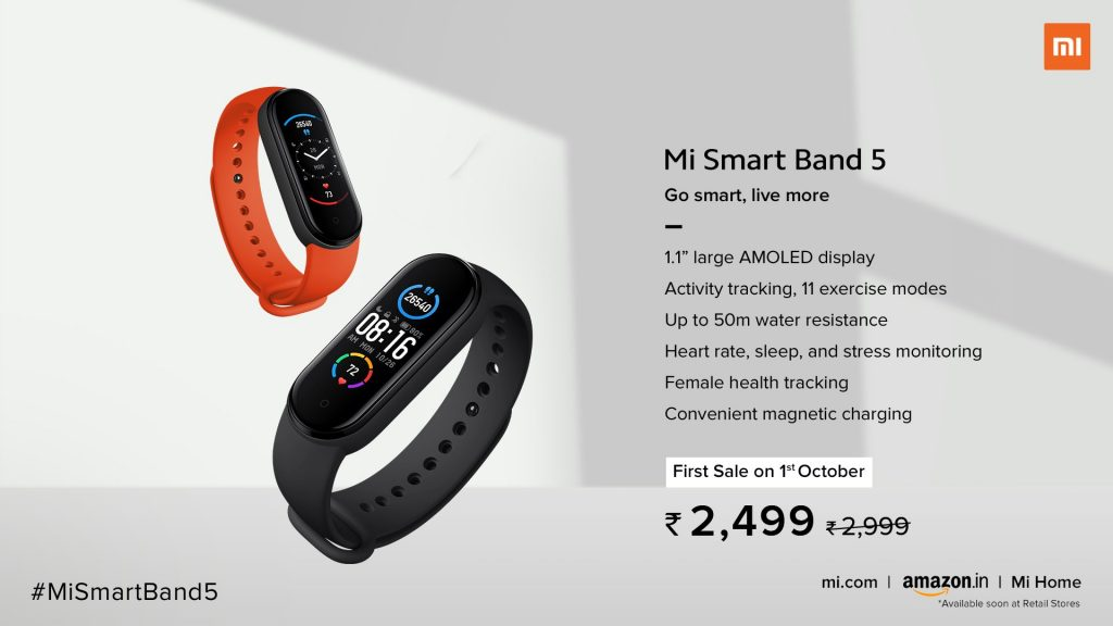 Mi Smart Band 5 Price and Features