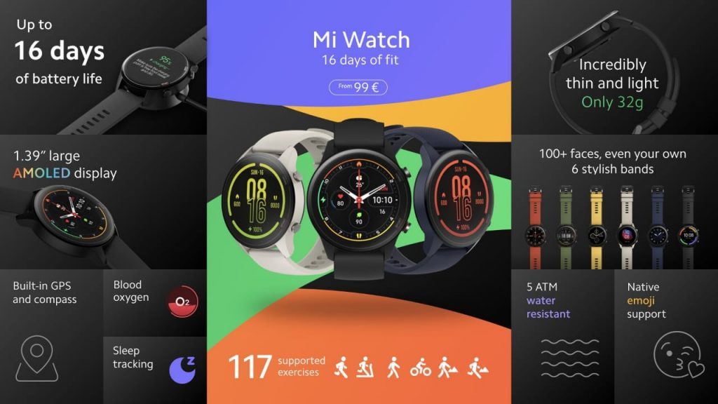 Mi watch specifications, Price