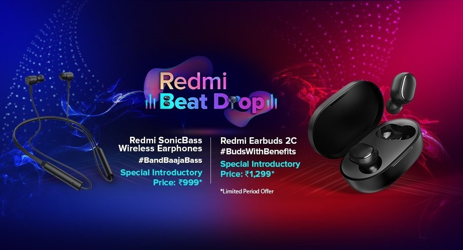 Redmi Launches SonicBass Wireless Earphones and Redmi Earbuds 2C