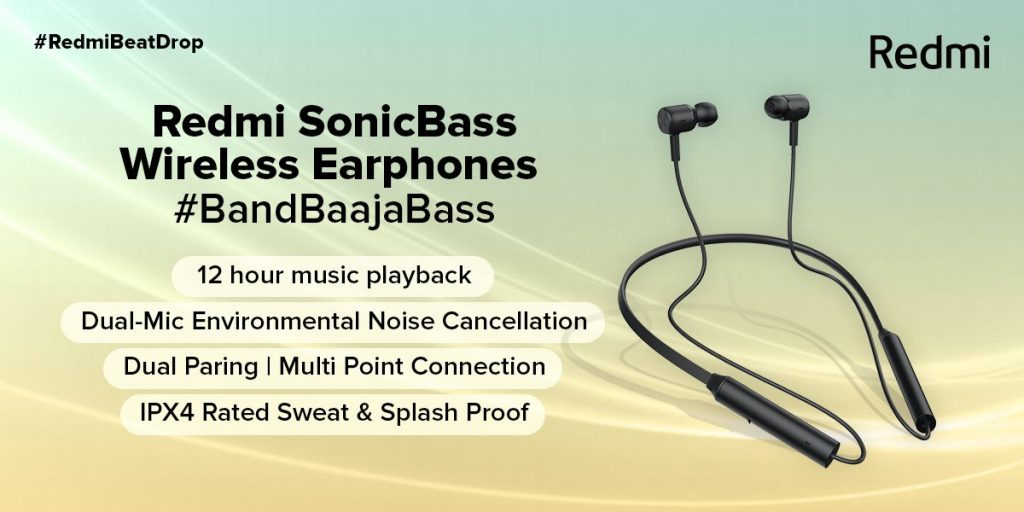Redmi SonicBass Wireless Earphone Specifications
