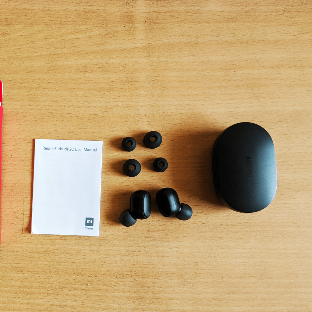 Redmi Earbuds 2C in the box content