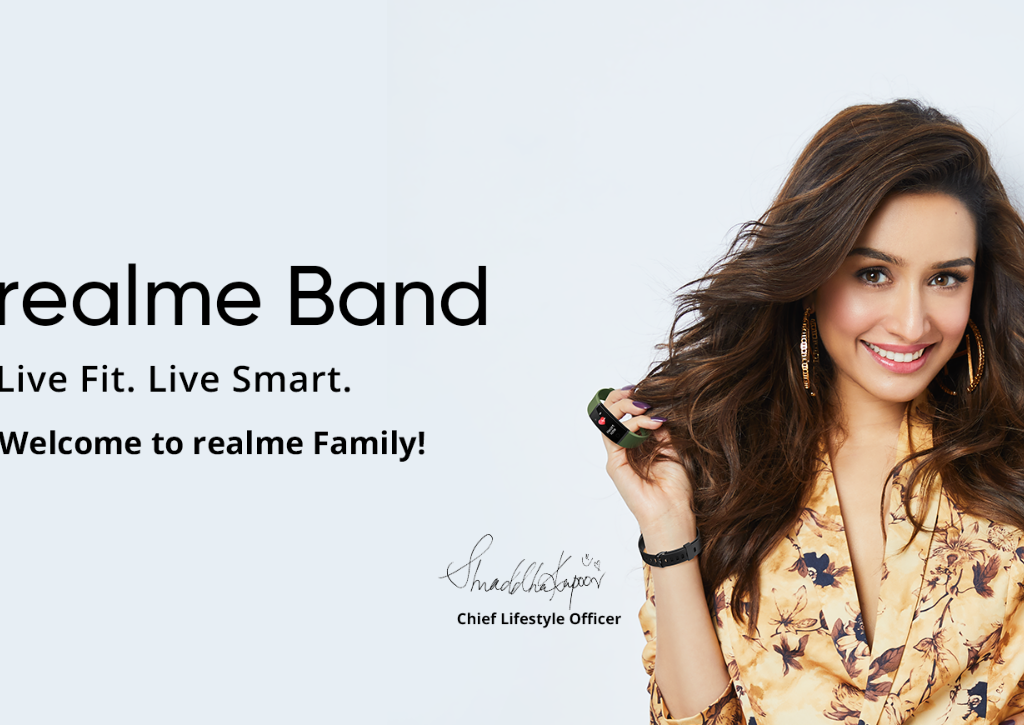 Realme named Shraddha Kapoor as the face of their Fitness and IoT products.